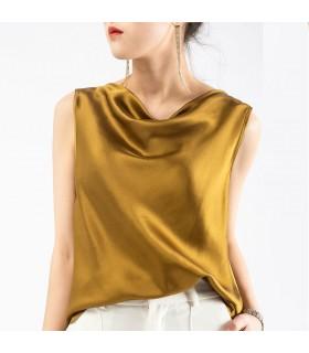 Silk gold top
