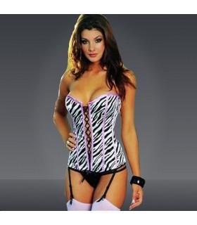 Sexy zebra corset spécial