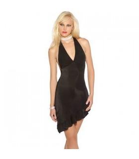 Sexy schwarzes asymmetrisches Kleid