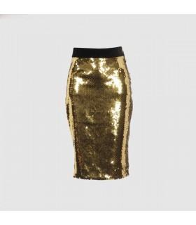 Goldener Paillettenrock