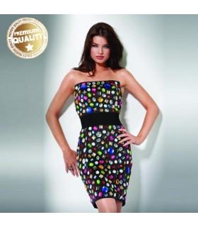 Farbige Edelsteine Kleid
