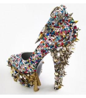 Chaussures d'éclat de folie totale