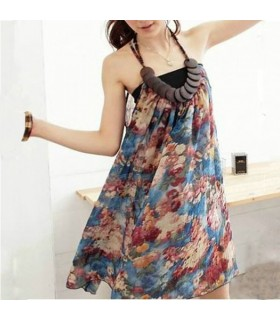 Chiffon romantic wood dress
