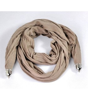 Cotton cream soft scarf