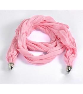 Weicher Baumwollschal in rosa