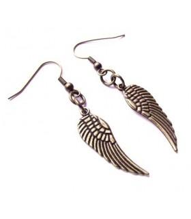 Ailes d'ange de boucles d'oreilles en bronze