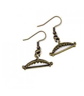 Boucles d'oreilles crochet bronze