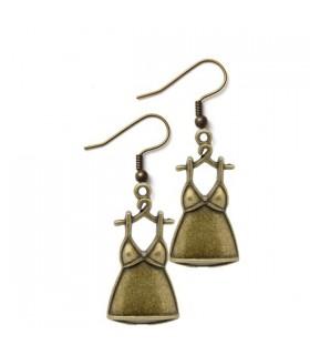 Femmes top boucles d'oreilles bronze