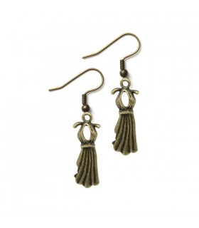 Dress bronze earrings