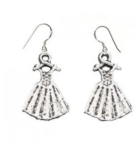 Silver victorian dress earrings
