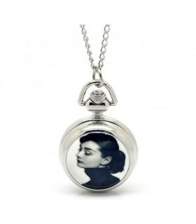 Halskette mit Audrey Hepburn Uhr