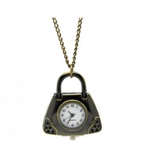 Halskette mit Uhr in Taschenform