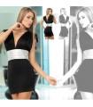 Sexy metallisches schwarzes Kleid