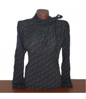 Schicke Langarm Bluse im italienischen Stil