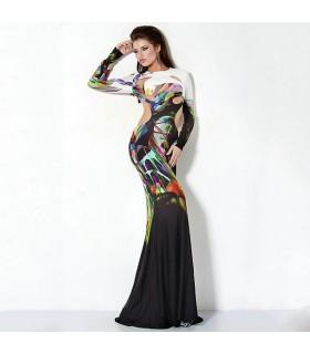 Asymétrique coupe robe unique