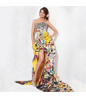 Life colors print exotic dress crazy outfit