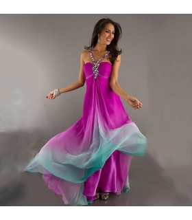 Long chiffon sweet dress