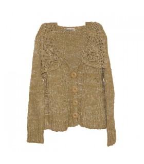 Grüne besonderen häkeln Kragen Pullover