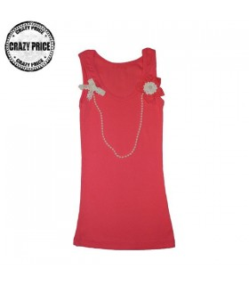 Coral chic top