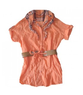 Orange fashion tunic with scarf