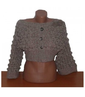 Cropped very modern fashion pattern sweater