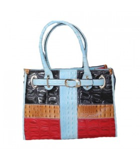 Colored deluxe crocodile pattern handbag