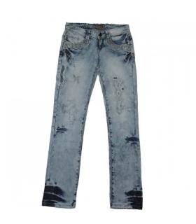 Jeans de mode orné de dentelle
