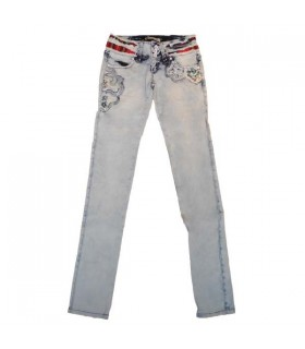 Splendidi jeans di modo impreziositi