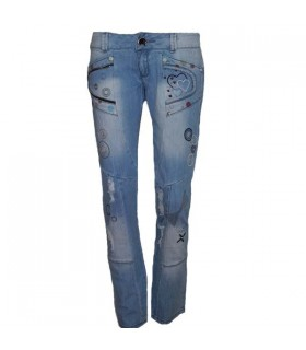 Cool fashion zipper jeans