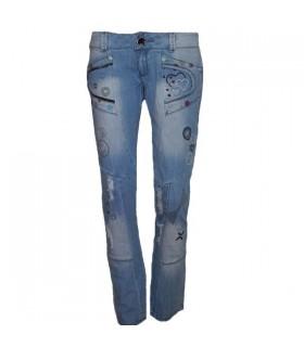 Jeans fermeture à glissière fashion cool