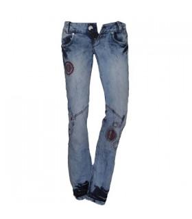 Modische Jeans mit Stickereien