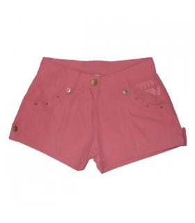 Pantaloncini donna rosa di cotone