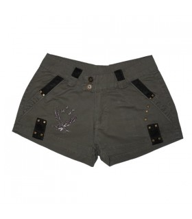 Fancy brown army shorts for women