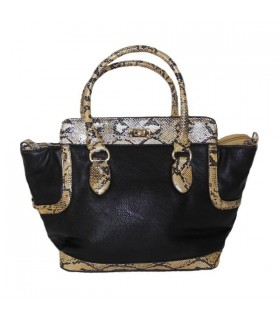 Fancy snake pattern handbag