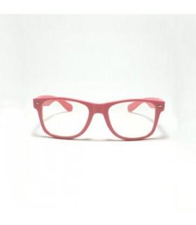 Gerahmte retro Sonnenbrille in rosa