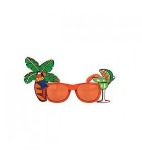 80er Jahre Flamingo Cocktail Sonnenbrille