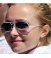 White frame aviator sunglasses