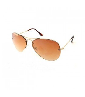 Pilotenbrille mit goldenem Rahmen