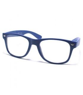 Rétro lunettes de soleil bleues encadrées