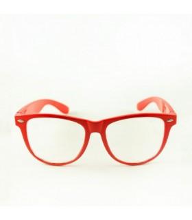 Gerahmte retro Sonnenbrille in rot