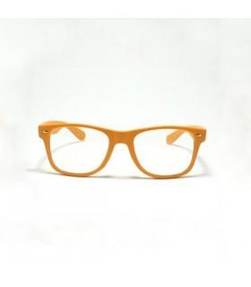 Gerahmte retro Sonnenbrille in orange