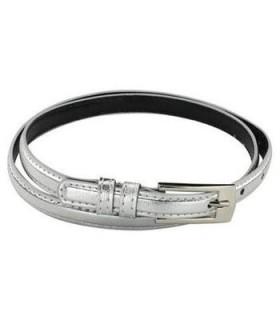 Skinny silver belt
