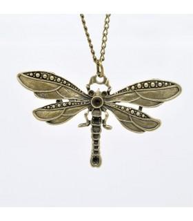 Bronzo annata libellula collana