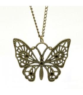 Collana farfalla in bronzo antico