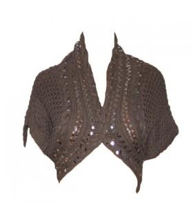 Boléro tricoté sequin