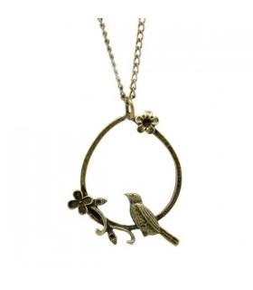 Bronze ton collier de stand d'oiseau