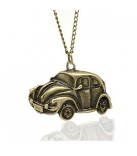 Antique bronze vintage car necklace