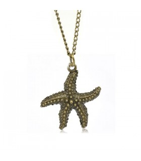 Bronze sea star necklace