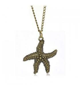 Collier bronze étoile de mer