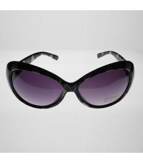 Lila Sonnenbrille mit modischen Quadraten